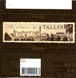 The legend of Tallinn, milk chocolate, 20g, 04.12.2012, Laima, Riga, Latvia