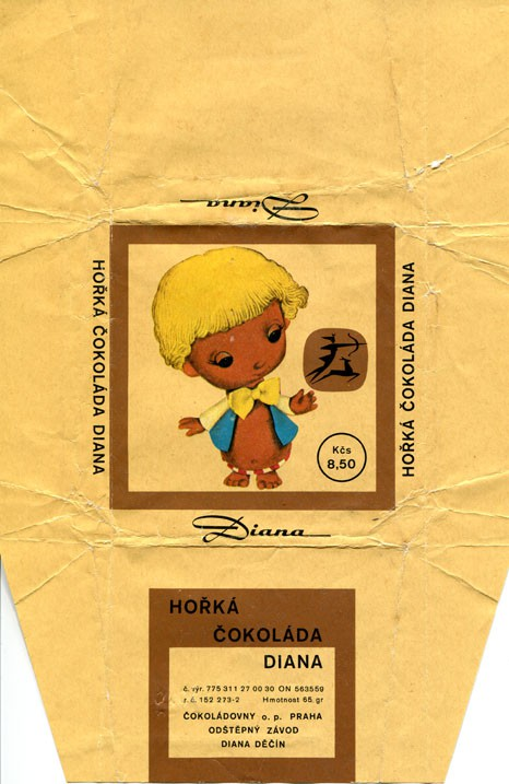 Dark chocolate, 65g, 1980, Diana, Decin, Czech Republic (CZECHOSLOVAKIA)