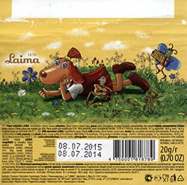 Milk chocolate, 20g, 08.07.2014, Laima, Riga, Latvia
