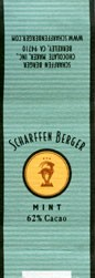 Mint dark chocolate, 5g, Scharffen Berger Chocolate Maker, Inc., Berkeley, USA