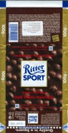 Ritter sport, dark chocolate with whole hazelnuts, 100g, 10.2006, Alfred Ritter GmbH & Co. Waldenbuch, Germany
