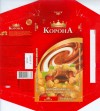 Korona, milk chocolate with whole hazelnuts, 100g, 19.03.2008, Kraft Foods Ukraine, Trostjanetz, Ukraine