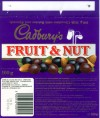 Fruit&Nut, milk chocolate with raisins and almonds, 100g, 02.01.1996, Cadbury\