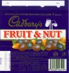 Fruit&Nut, milk chocolate with raisins and almonds, 52g, 13.12.1994, Cadbury\
