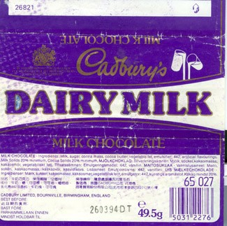 Fruit&Nut, milk chocolate, 49,5g, 26.03.1993, Cadbury\