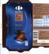 Milk chocolate with mousse, 160g, 08.03.2010, Carrefour Levellois Cedex, Interdis SNC, Mondeville, France