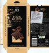Dark chocolate with nuts, 100g, 10.2015, Carrefour Levellois Cedex, Interdis SNC, Mondeville, France