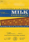 Milk chocolate, 25g, 1980, Diana, Decin, Czech Republic (CZECHOSLOVAKIA)