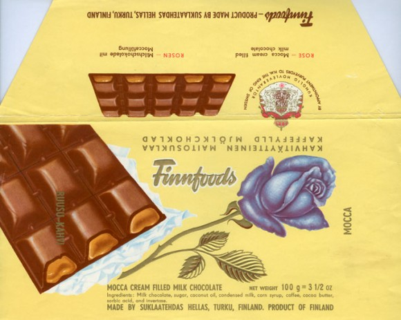 Rose, Ananas, Finnfoods, Hellas, mocca cream filled milk chocolate, 100g, Hellas, Turku, Finland