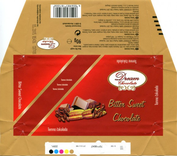Bitter sweet chocolate, 90g, 05.2004, Intersweet GmbH, Norderstedt, Germany