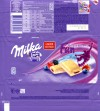 Milka Fun Snowboard, white chocolate with alpine milk and forest fruits and yoghurt, 100g, 01.06.2009, Kraft Foods Hungary, Budapest, Hungary