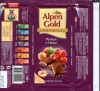 Alpen Gold, milk chocolate with hazelnuts and raisins, 100g, 26.09.2007, Kraft Foods Russia, Pokrov, Russia