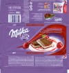 Milka, milk chocolate with cherry flavoured cream and milk praline with cherry flavoured, 90g, 19.01.2009, Kraft Foods Russia, Pokrov, Russia