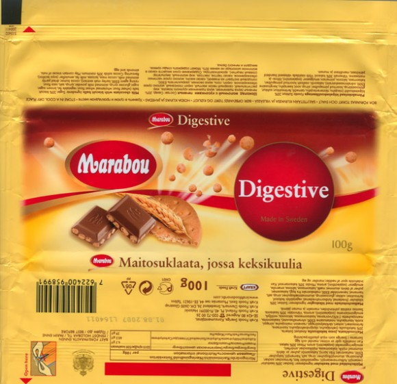 Milk chocolate with biscuit balls, 100g, 01.08.2006, Kraft Foods Sverige, Angered, Sweden