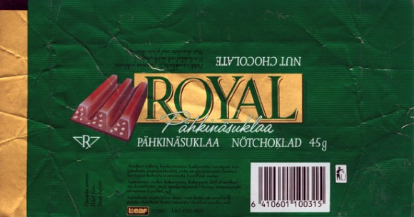Royal, nut chocolate, 45g, 
