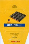 Quarto fruit, milk chocolate with fruit filling, 103g, about 1970, Lidka (Diana), Decin, Czech Republic (CZECHOSLOVAKIA)