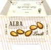 Alba, milk chocolate with cocoabutter, sugar, milk, almonds, 100g, about 1970, Lindt & Sprungli, Kilchberg, Switzerland