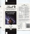 Excellence extra fine dark chocolate with almonds and blueberries, 100g, 07.2013, Lindt & Sprungli S.A France., Oloron-Sainte-Marie, France