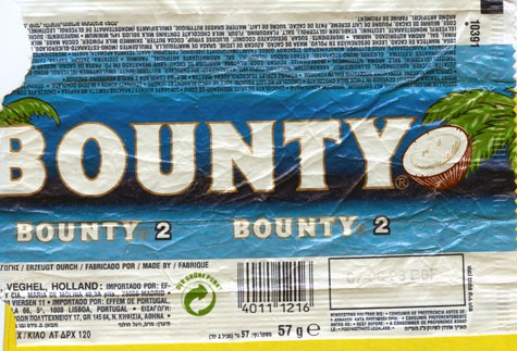 Bounty, 57g, 07.08.1992
