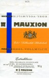 Milk chocolate, 50g, Mauxion GmbH, Aachen, Berlin, Germany