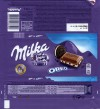 Milka, milk chocolate with vanilla flavour filling and cocoa biscuit pieces, 100g, 17.08.2016, Mondelez Polska Production sp.z.o.o., Kobierzyce, Poland