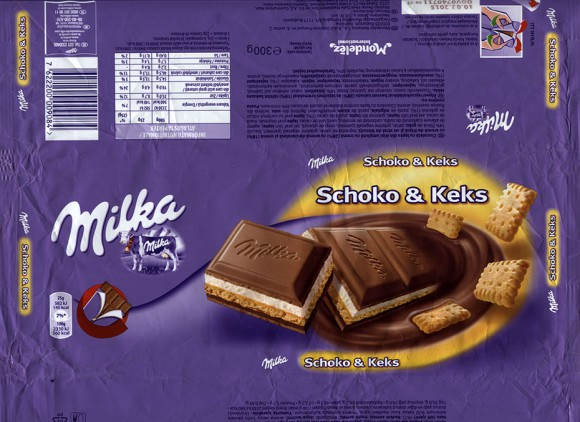 Milka, milk chocolate with cream and biscuit, 300g, 10.02.2014, Mondelez Romania S.A., Bucuresti, Romania