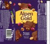 Alpen Gold, milk chocolate with raisins and nuts, 90g, 30.01.2016, Mondelez International, Mondelez Rus, Pokrov, Russia