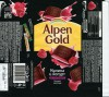 Alpen Gold, dark chocolate with raspberry and yoghurt, 90g, 10.07.2015, Mondelez International, Mondelez Rus, Pokrov, Russia