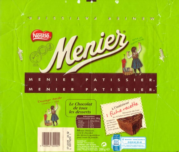 Menier, milk chocolate, 200g, 07.2008, Nestle France