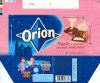 Orion, milk filled chocolate with marzipan flavour filling, 100g, 04.2007, Orion Nestle Cesko s.r.o, Praha, Czech Republic