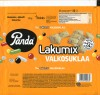 White chocolate with liquorice, strawberry, orange and aniseed flavoured pieces, 145g, 31.07.2019, Orkla Confectionery and snacks Finalnd, Panda, Vaajakoski, Finland