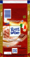 Ritter sport, cappuccino, milk chocolate with a cappuccino cream filling, 100g, 01.2003, 