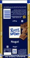 Ritter sport, gianduia nugat, milk chocolate, 100g, 09.2005, Alfred Ritter GmbH & Co. Waldenbuch, Germany