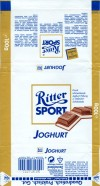 Ritter sport, joghurt, milk chocolate with joghurt filling, 100g, 10.1996, Alfred Ritter GmbH & Co. Waldenbuch, Germany