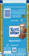 Ritter sport, milk chocolate, 100g, 02.2007, Alfred Ritter GmbH & Co. Waldenbuch, Germany