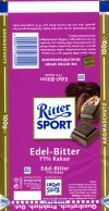 Ritter sport, dark chocolate, 100g, Alfred Ritter GmbH & Co. Waldenbuch, Germany