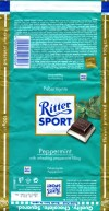 Ritter sport, Peppermint, plain chocolate with peppermint filling, 100g, 16.08.2009, Alfred Ritter GmbH & Co. Waldenbuch, Germany