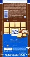 Ritter sport, milk chocolate with white chocolate, 100g, 22.01.2011, Alfred Ritter GmbH & Co. Waldenbuch, Germany