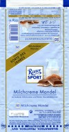 Ritter sport, milk chocolate with milk cream filling and nuts, 100g, 25.11.2009, Alfred Ritter GmbH & Co. Waldenbuch, Germany