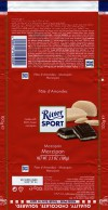 Ritter sport, plain chocolate with marzipan filing, 100g, 19.06.2014, Alfred Ritter GmbH & Co. Waldenbuch, Germany