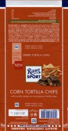 Ritter sport, milk chocolate with crunchy roasted corn and pieces of tortilla chips, 100g, 16.01.2016, Alfred Ritter GmbH & Co. Waldenbuch, Germany
