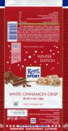 Ritter sport, winter edition, white chocolate with cinnamon crisp and crispy rice, 100g, 25.05.2017, Alfred Ritter GmbH & Co. Waldenbuch, Germany