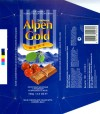 Alpen Gold, milk chocolate filled with cherry jelly, 100g, Konditerskaja fabrika Shtolverk Rus, Pokrov, Russia