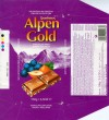 Alpen gold, milk chocolate with raisins and hazelnuts, 100g, 10.1997, Stollwerck GmbH , Koln, Germany