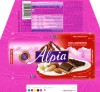 Alpia, plain chocolate filed with marzipan, 100g, 23.12.2011 , Stollwerck GMBH, Koln, Germany