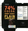 Plain chocolate, 100g, 11.2011, produced in France for Tesco Stores Ltd., Cheshund, United Kingdom