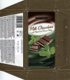 Milk chocolate with peppermint flavour filing, 100g, 13.08.2011, Produced in Poland for Tesco Stores Ltd., Krakow, Poland