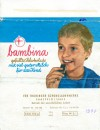 Bambina, filled chocolate, 100g, about 1970, Thuringer Schokoladenwerke, Saalfeld, Germany