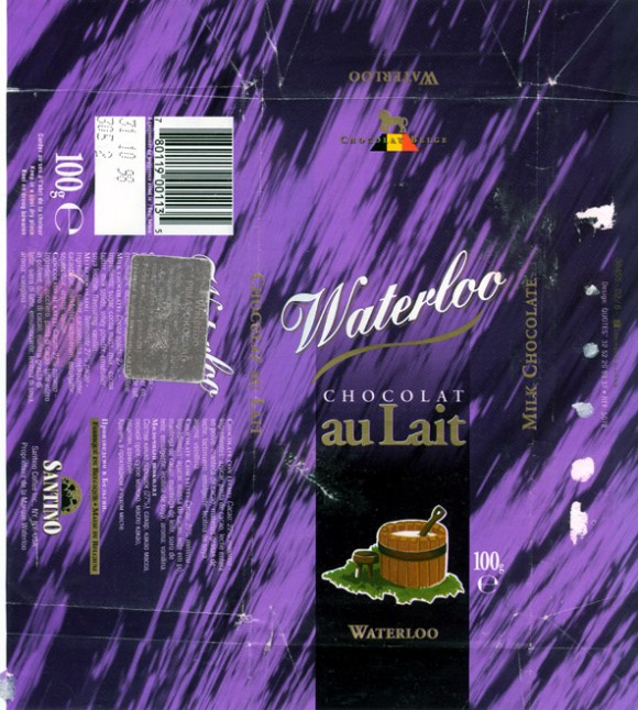 Waterloo chocolat au Lait, milk chocolate, 100g, 31.10.1997