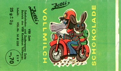 Milk chocolate, 25g, 1970, Zetti, Germany